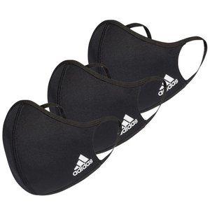 (3 mask) Adidas Face Mask Black Medium/Large *New*